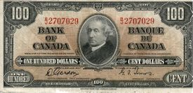 1937 $100 scan